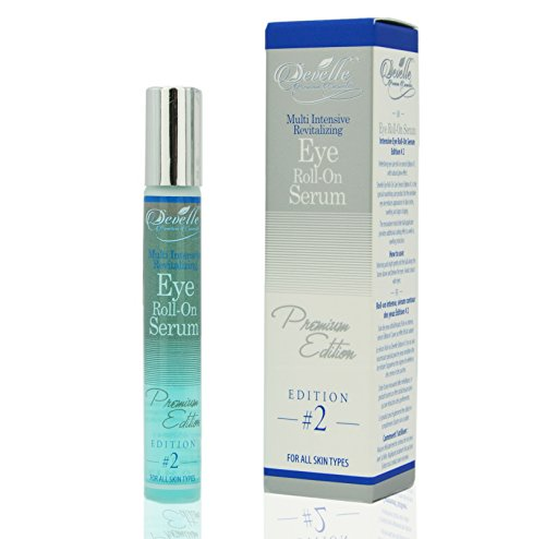 Develle Eye Roll On Augenserum 10 ml. BLUE Premium Edition gegen Tränensäcke und Augenringe / Augenlifting / Anti Falten Augenserum / Anti-Aging Serum