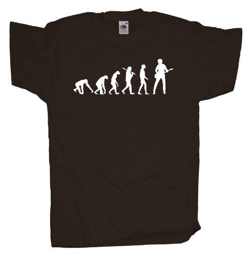 Ma2ca - Evolution - Basser Bassist Bass T-Shirt Chocolate