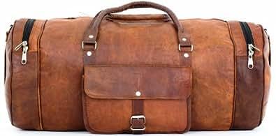 "Gusti Cuir nature ""Michael"" sac de voyage bagage à main sac de sport sac en bandoulière sac notebook 13,3"" iPad-Air sac en cuir besace cabas en cuir sac porté épaule R32b"