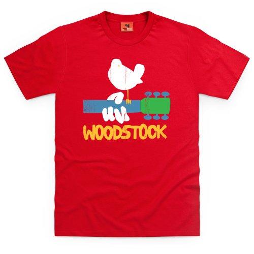 Woodstock T-Shirt, Herren, Rot, 4XL -
