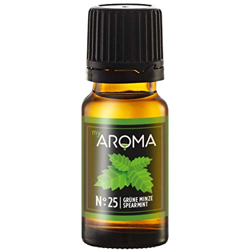 myAROMA | No. 25 (Grüne Minze, 10 ml) | Rein natürliches Aroma | Geschmackstropfen zum Kochen, Backen & Mixen | Zuckerfrei & Fettfrei