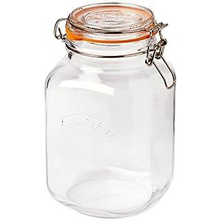 Kilner Square Clip Top Jars 2ltr - Case of 6 | Kilner Preservation Jars, Kilner Storage Jars, Kilner Jam Jars with Cliptop Lid