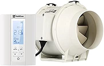 Honu0026Guan ø125mm Rohrventilator   Abluftventilator Badlüfter Mit Hygrostat  Und Timer, Intelligenter Controller Mit Drei Geschwindigkeitssteuerung