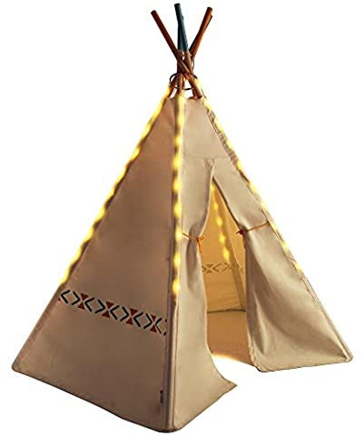 Kenley Teepee Lights - Battery Operated 6 LED Strings for Kids Playhouse Tent Play Fort - Universal Fit for Most 6-pole Boys Girls Fairy Tents - Wedding Party Room Christmas Decorations & Accessories