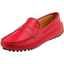Shenduo Mujer Zapatos de Cuero - Mocasines Casuales Moda Zapatos Planos Mocasín Slip-on para