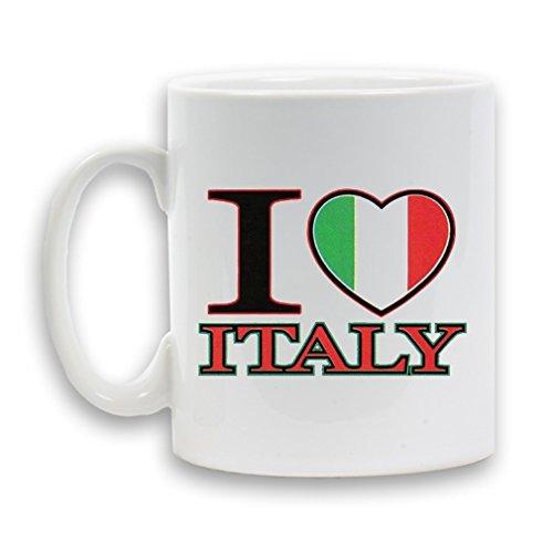 I Love Italia progettato tazza in ceramica 311,8gram Heavy divertente novità regalo bianco caffè tè bevanda contenitore