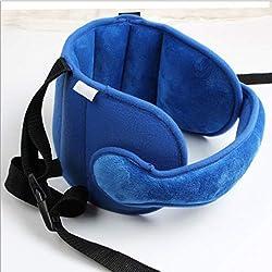 1pc Sleeping Head Support Pad Kids Cochecito de niño Asiento del coche Asiento posicionador Sleep Cochecito para niños Soporte para la cabeza Cinturón de sujeción - Azul