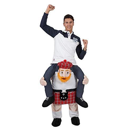 Carry Me-Kostüm cavalcioni Schottischer Kilt für Erwachsene, Einheitsgröße, ma-8711
