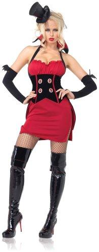 Leg Avenue - Coffin Queen Kostüm - ML - Rosa/Schwarz - 83489 - Home Health Care-queen