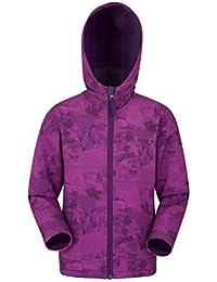 4497fac24d9c Mountain Warehouse Exodus Softshelljacke mit Print für Kinder -  Sommermantel mit Taschen, Jacke mit Fleecefutter in Kapuze, Regenmantel…