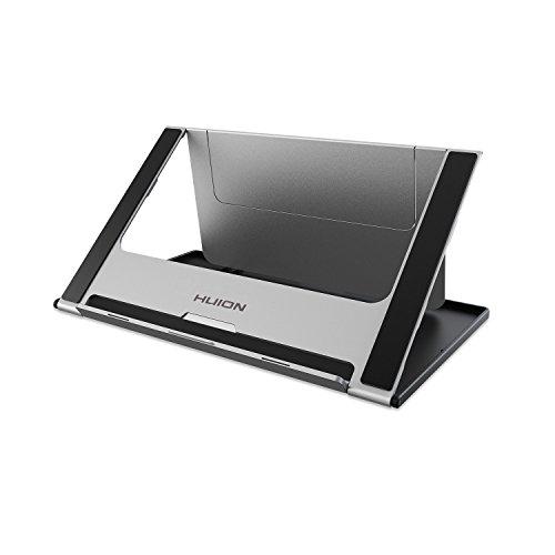 HUION Tragbarer Schreibtischständer Klappbarer Kühlständer Verstellbarer Mehrwinkel-Tischhalter Universal Grafiktabletts bis zu Einer Länge von 18 Zoll