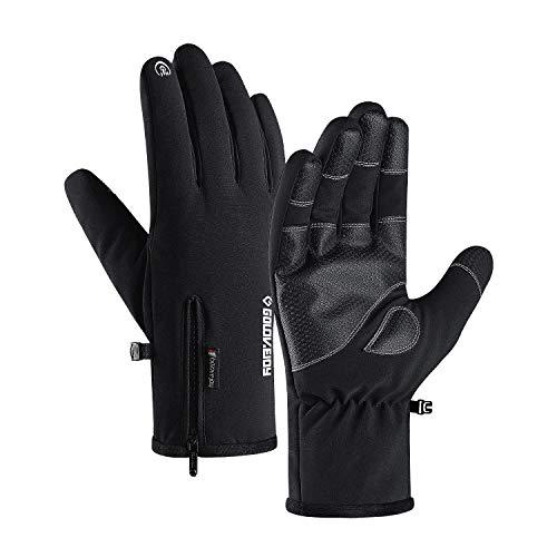 Guanti da Sci Uomo Impermeabile Full Finger Touchscreen Guanti Termici Invernali Grandrelle (-22 ℉ (-30 ℃) per Sci Moto Ciclismo Arrampicata Escursionismo Caccia Sport Outdoor Guanti da Sci (XL)