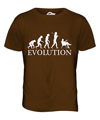 CandyMix Zigarre Evolution Des Menschen Herren T Shirt Braun
