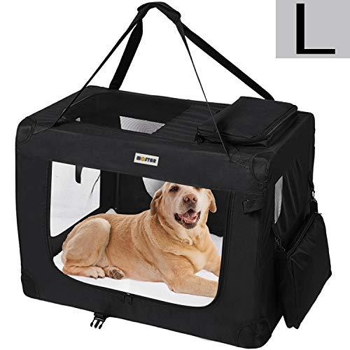 mc star borsa per cane portatile pieghevole trasportino per cani animali domestici l 70 x 52 x 52 cm,nero