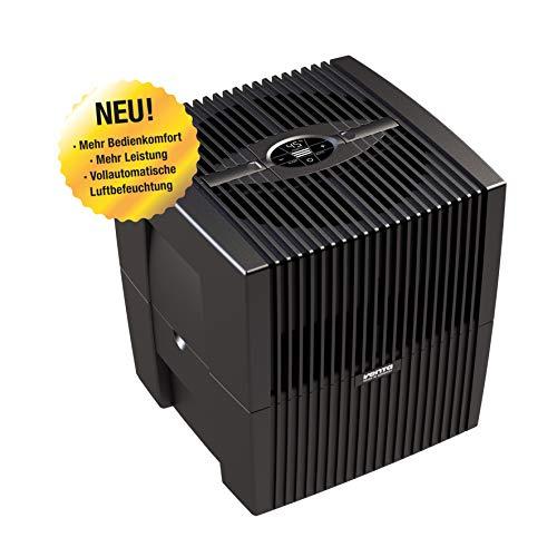 Venta Luftwäscher LW25 Comfort Plus Luftbefeuchter und Luftreiniger für Räume bis 45 qm, brillant schwarz, mit digitaler Steuerung