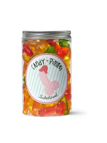 Candy Pimmel - Zuckerhimmel, 300 Gramm Naschdose, Fruchtgummis in Penis Form, witziges Geschenk für Freunde - der Partyknaller auf jedem Junggesellenabschied