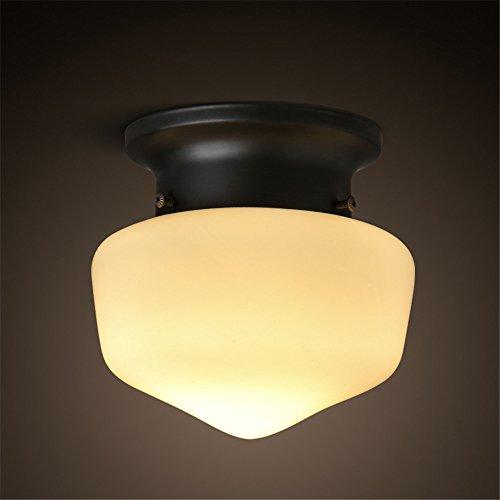 Larsure Vintage Style moderne Lampe de plafond Plafonniers Lampes de plafond petit vestiaire ronde rétro éclairage led et d'une salle de bains cuisine balcon allée lumière plafond,160*160mm