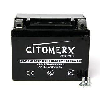 Batterie wartungsfrei 12V 5AH YB4L-B, YTX4L-BS, YT4L-B für Piaggio NRG mc3 50 LC DD Power 2014