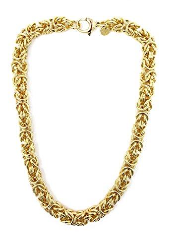 ld Doublé 10 mm 70 cm Halskette Goldkette Herren-kette Damen Geschenk Schmuck ab Fabrik Italien tendenze BZGYRO10-70v ()