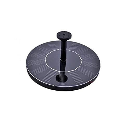 Outdoor Water Fountains, punson 1.4W Brushless DC & Automatic Solar Water Pump,Spray Height 30-60cm,With Diversified Nozzle & Free Standing Floating Design, Suitable for Pond,Garden Decoration(Circle)
