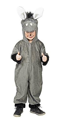 Overall Esel Kostüm Gr. 92 für Babys und Kleinkinder - Tolles Tierkostüm für Karneval und (Baby Kostüme Esel)