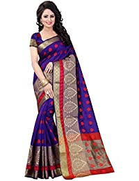 Vatsla Enterprise Women's Cotton Silk Saree (VLEAF005PURPLE_PURPLE)