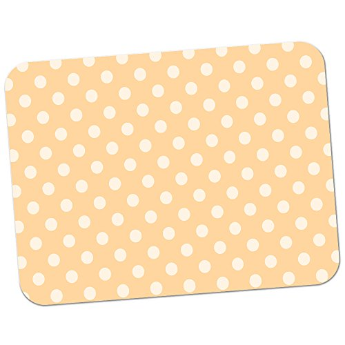 pastel-orange-polka-dots-premium-quality-thick-rubber-mouse-mat-pad-soft-comfort-feel-finish