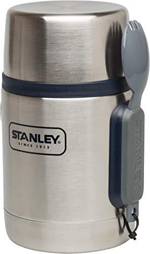 Stanley Adventure Vakuum-Speisebehälter 0.53 L, Stainless, 18/8 Edelstahl, inkl. Becher und Göffel, Auslaufsicher, Food Container Thermobehälter Lunchbox
