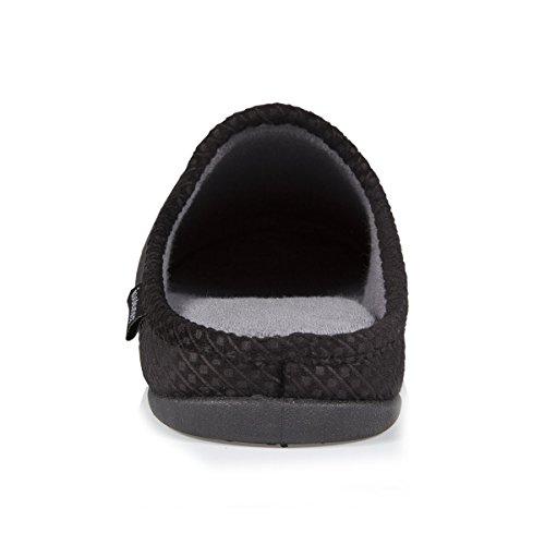 Isotoner Uomo Pantofole Effetto Nero Muli Denim f4pqwY