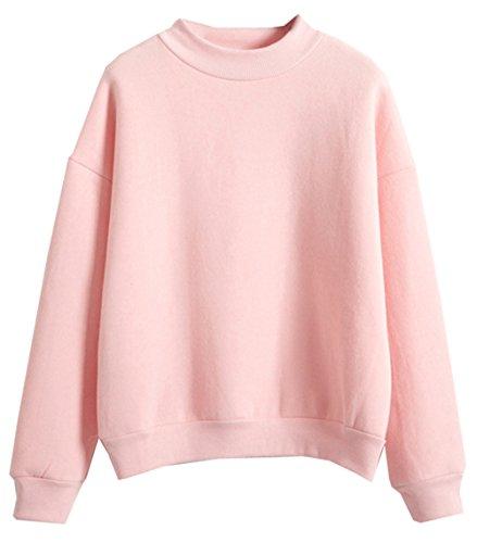 U-Shot - Sudadera de manga larga para mujer rosa rosa