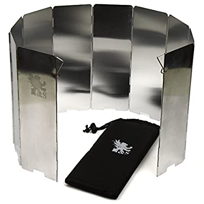 H&S 10 Plates Foldable Outdoor Camping Cooker Wind Screen Gas Stove Windshield 1