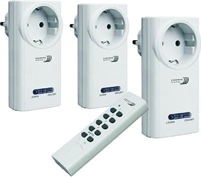 Home Easy HE808S Funk- Schalterset (drei Schalter und eine Fernbedienung) von Home Easy auf Lampenhans.de