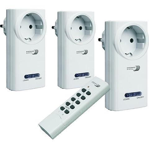 Home Easy, Set Interruttori Radio Telecomandati (3 Interruttori E 1 Telecomando) - He808S