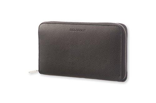 Zip-französisch Geldbörse (Moleskine Lineage Leather Smart Zip Wallet Schwarz)