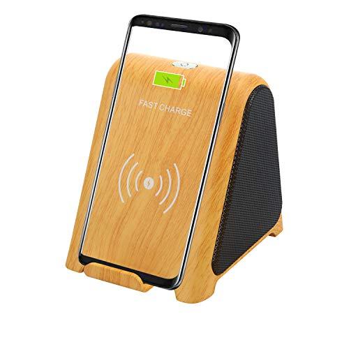 TPLISAK Cargador inalámbrico con Altavoz Bluetooth 2 en 1 Reproductor de Audio...
