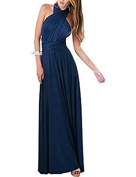 FeelinGirl Mujer Vestido de Noche Falda Larga Fiesta Elegante Multi-Manera