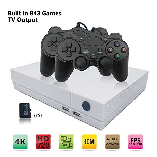 Console di gioco retrò, Sistema Di Intrattenimento Videogioco Portatile per HD 800 Giochi Classici Uscita TV HDMI 4K con joystick 2PCS per un grande Gifi per Game Player di Anbernic (bianca)