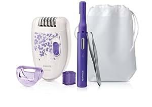 Philips 3-in-1 Set HP6543/00 / Haarentfernungsset mit Epilierer, Präzisionstrimmer und Pinzette für eine glatte Haut - jeden Tag und zu jeder Zeit
