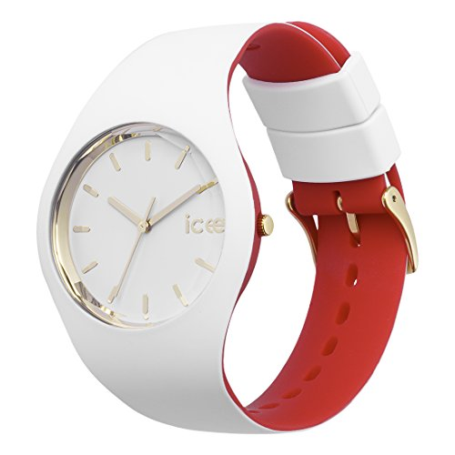 Ice-Watch – ICE loulou White Gold – Women's wristwatch with silicon strap – 007239 (Medium)