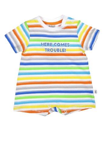 Kanz Baby - Jungen Spieler 1/4 Arm 1436765, Gestreift, Gr. 62, Mehrfarbig (Allover Multicolored 0003)