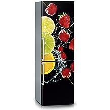 Vinilo para nevera | Stickers Fridge | Pegatina Frigo | Black Fruits (200x70)