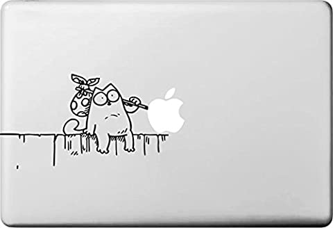 Vati Feuilles amovible Creative Petit Chat Blanc Prenez Art Wrap
