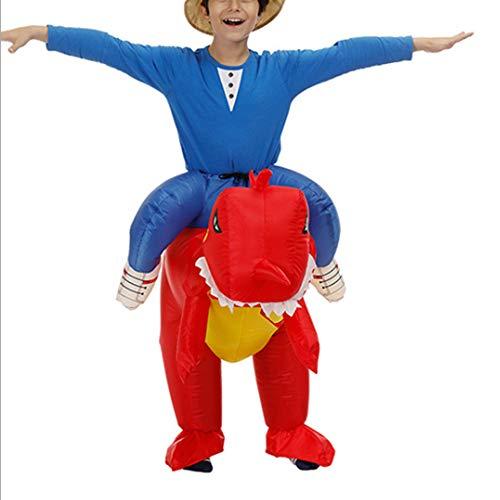 Godmoy Lustige Aufblasbare Dinosaurier Kostüm Set Reiten