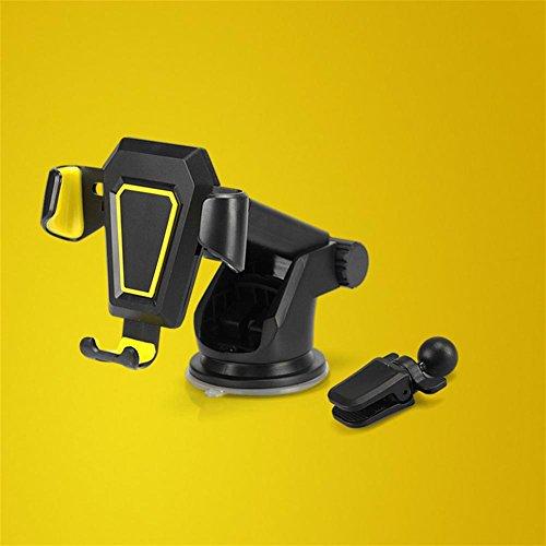 Preisvergleich Produktbild Car Phone Ständer Gravitation Instrumente Tabelle Automatic Lock Car Phone Halterung , yellow