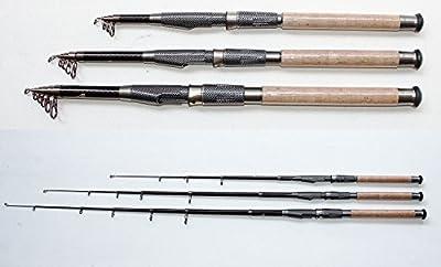 carbontelerute caña de pescar telescópica caña de pescar Caña de spinning Sbirolino (carbon02)