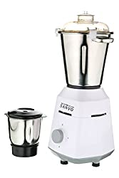 Mater Class Sanyo White Color 1200Watts Mixer Grinder with 2 Jar (1 Large Jar and 1 Chuntey Jar)