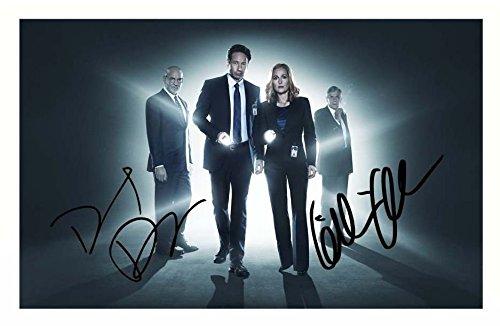 el-x-files-david-duchovny-autografiada-firmado-de-gillian-anderson-a4-poster-de-la-impresion-de-foto