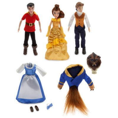 Beauty und das Biest Mini Puppe Set enthält poseable Figuren von Belle, Tier und Gaston zusammen mit alternativen (Posable Figur Puppe)