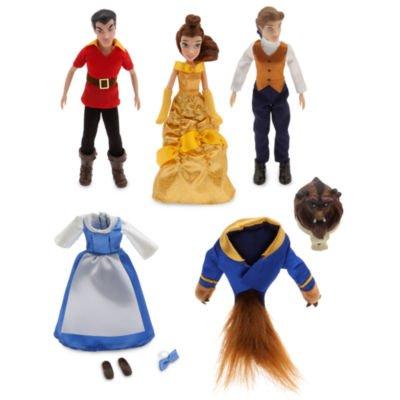 Sebastian Little Kostüm Mermaid - Beauty und das Biest Mini Puppe Set enthält poseable Figuren von Belle, Tier und Gaston zusammen mit alternativen Kostümen