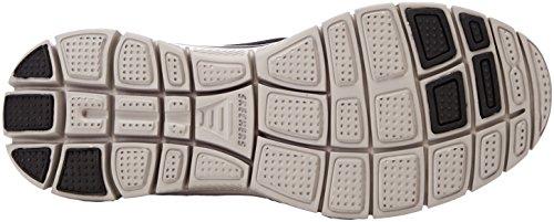Skechers Flex Advantage 1.0-Zizzo, Sneaker Uomo Nero (Black/lime)